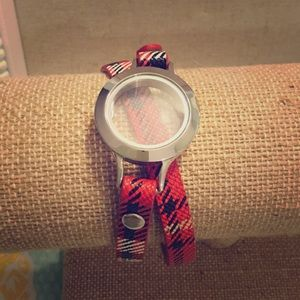 Plaid Leather Wrap